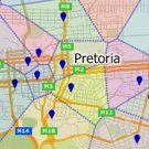 Maptitude South Africa territory map maker