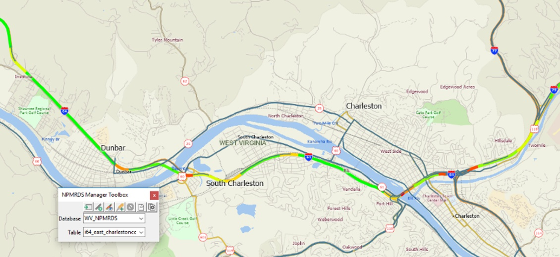 TransCAD 9 Corridor Map