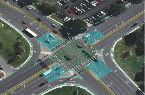 TransModeler Intersection Geometry