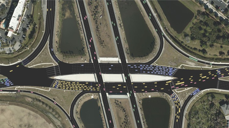 TransModeler alternative interchanges