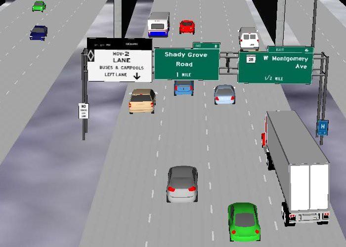Managed Lane HOV and HOT Simulation