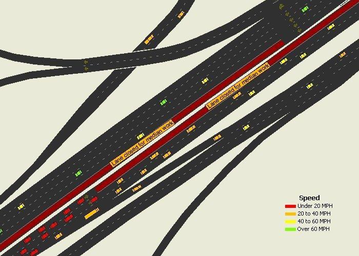 Work Zone Lane Closure Simulation