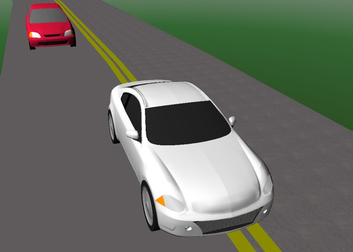 Two-lane highway passing simulation
