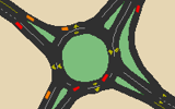 Simulate roundabouts and other intersection improvements