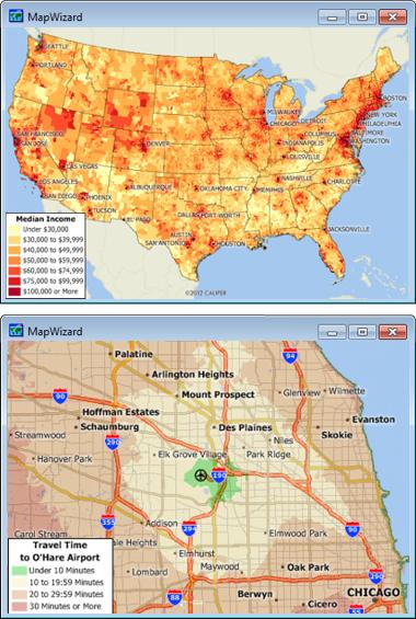 Sample Maptitude United States Maps