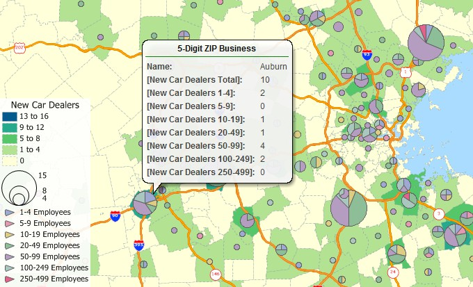 Free Zip Code Business Counts Data For Maptitude 2018 Mapping
