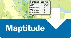 How do I download the free ZIP Code business count data for