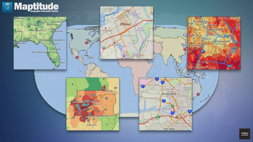 Maptitude GIS and Mapping Software – Travel Map Software