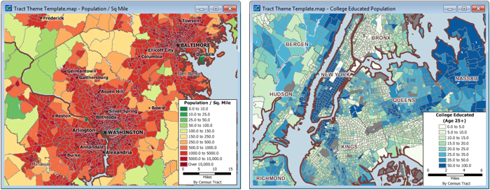 Tract Mapping Software - Us population density map census tract