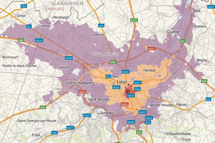 Maptitude Belgium Mapping Software