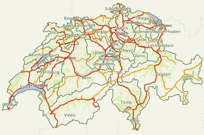 Maptitude Swizterland Map