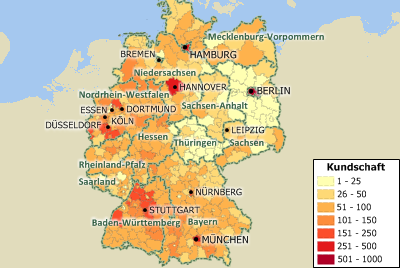 Population Density Map Of Germany.Maptitude Mapping Software For Germany