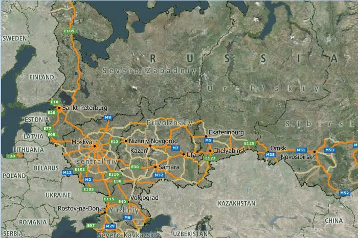Maptitude Russia Map