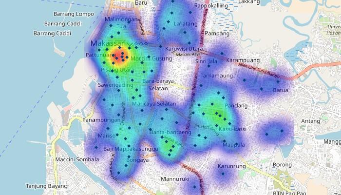 Maptitude Indonesia heat map