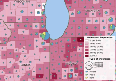 Access health insurance coverage data