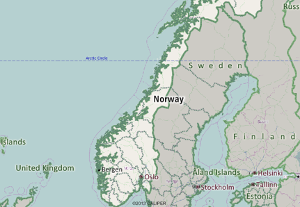 Norway Mapping Software - Norway map 2014