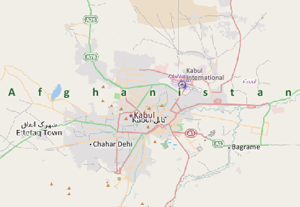 World Map Of Kabul Afghanistan. Kabul  Afghanistan map Mapping Software