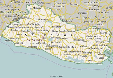 El Salvador Mapping Software