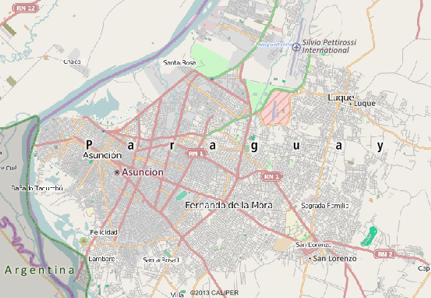 Paraguay Mapping Software