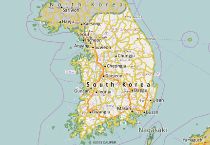 South Korea Mapping Software