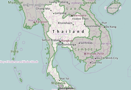 Lampang Thailand Map.Thailand Mapping Software