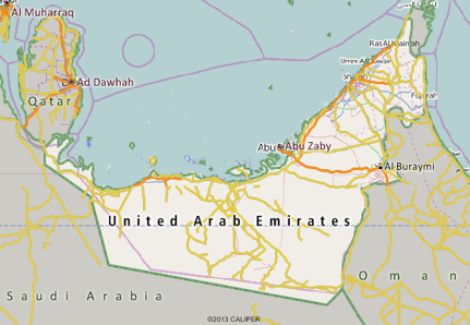 United Arab Emirates Mapping Software