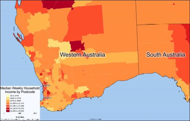 Free Australia Postcode Maps