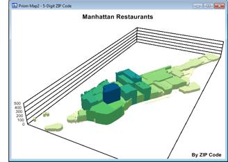 Maptitude 3D Prism Map