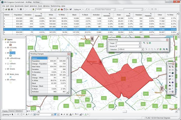 Esri redistricting software from Caliper